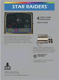 Box back cover for Star Raiders on the Atari 5200.