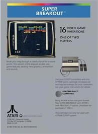 Box back cover for Super Breakout on the Atari 5200.