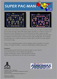 Box back cover for Super Pac-Man on the Atari 5200.