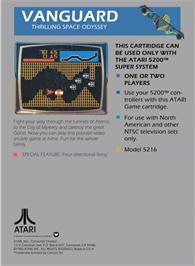 Box back cover for Vanguard on the Atari 5200.