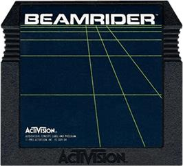Cartridge artwork for Beamrider on the Atari 5200.