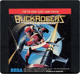 Cartridge artwork for Buck Rogers: Planet of Zoom on the Atari 5200.