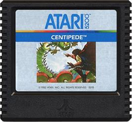 Cartridge artwork for Centipede on the Atari 5200.