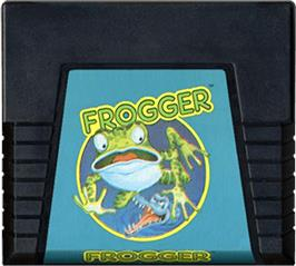 Cartridge artwork for Frogger on the Atari 5200.