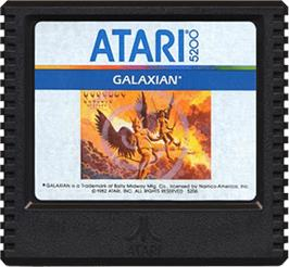Cartridge artwork for Galaxian on the Atari 5200.