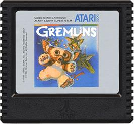 Cartridge artwork for Gremlins on the Atari 5200.
