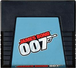 Cartridge artwork for James Bond 007 on the Atari 5200.