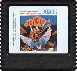 Cartridge artwork for Joust on the Atari 5200.