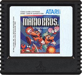 Cartridge artwork for Mario Bros. on the Atari 5200.