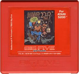 Cartridge artwork for Miner 2049er on the Atari 5200.