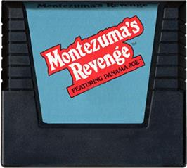 Cartridge artwork for Montezuma's Revenge on the Atari 5200.