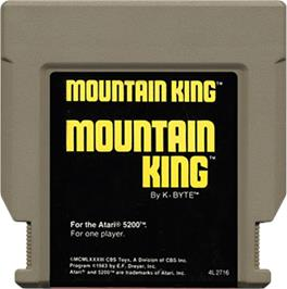Cartridge artwork for Mountain King on the Atari 5200.