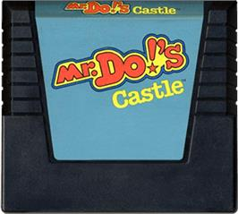 Cartridge artwork for Mr. Do's Castle on the Atari 5200.