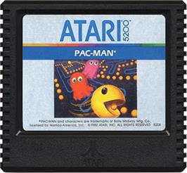 Cartridge artwork for Pac-Man on the Atari 5200.