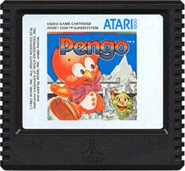 Cartridge artwork for Pengo on the Atari 5200.