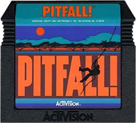 Cartridge artwork for Pitfall on the Atari 5200.
