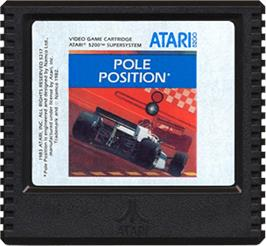 Cartridge artwork for Pole Position on the Atari 5200.