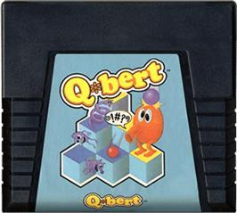 Cartridge artwork for Q*bert on the Atari 5200.