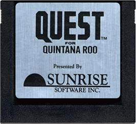 Cartridge artwork for Quest for Quintana Roo on the Atari 5200.