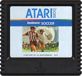 Cartridge artwork for RealSports Soccer on the Atari 5200.