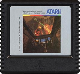 Cartridge artwork for Rescue on Fractalus on the Atari 5200.