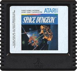 Cartridge artwork for Space Dungeon on the Atari 5200.