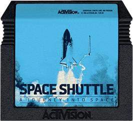 Cartridge artwork for Space Shuttle: A Journey into Space on the Atari 5200.
