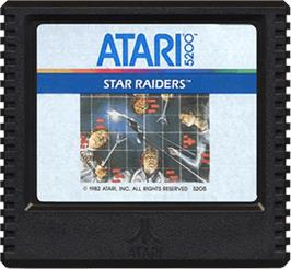 Cartridge artwork for Star Raiders on the Atari 5200.