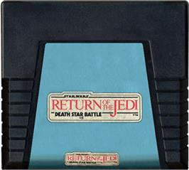 Cartridge artwork for Star Wars: Return of the Jedi - Death Star Battle on the Atari 5200.