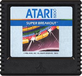 Cartridge artwork for Super Breakout on the Atari 5200.