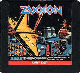 Cartridge artwork for Zaxxon on the Atari 5200.