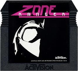 Cartridge artwork for Zone Ranger on the Atari 5200.