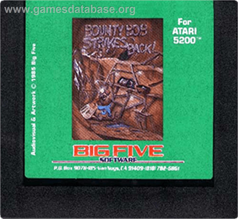 Cartridge artwork for Bounty Bob Strikes Back on the Atari 5200.