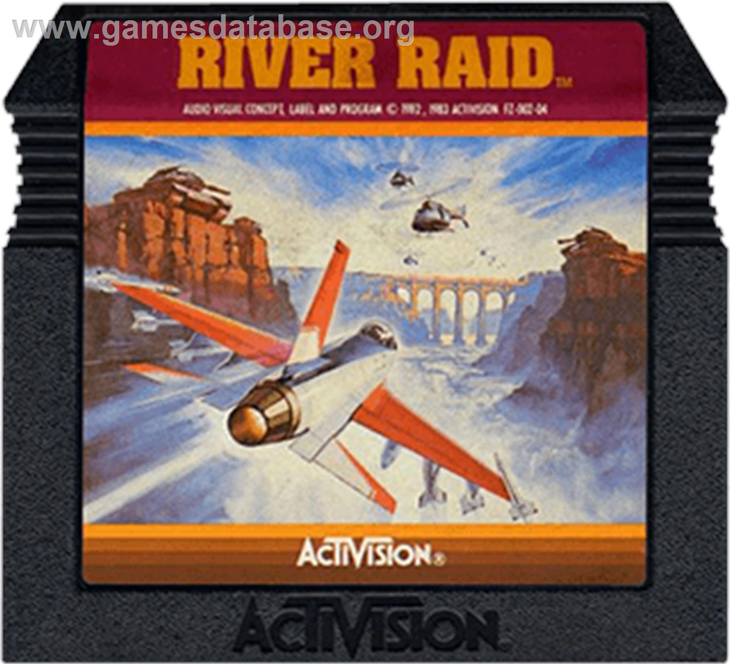 River Raid - Atari 5200 - Artwork - Cartridge