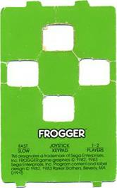 Overlay for Frogger on the Atari 5200.