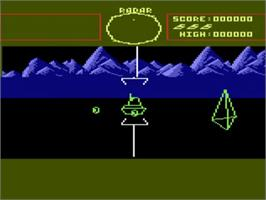 In game image of Battle Zone on the Atari 5200.
