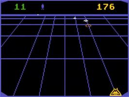 In game image of Beamrider on the Atari 5200.