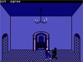 In game image of Black Belt on the Atari 5200.