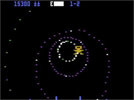 In game image of Blaster on the Atari 5200.