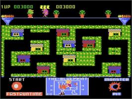 In game image of Blue Print on the Atari 5200.