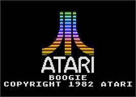 In game image of Boogie Demo on the Atari 5200.