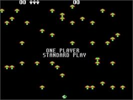 In game image of Centipede on the Atari 5200.