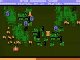 In game image of Countermeasure on the Atari 5200.