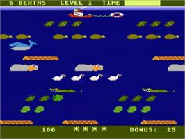 In game image of Frogger 2: Three Deep on the Atari 5200.