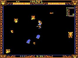 In game image of Gremlins on the Atari 5200.