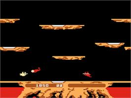 In game image of Joust on the Atari 5200.