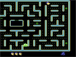 In game image of Jr. Pac-Man on the Atari 5200.