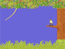 In game image of Jungle Hunt on the Atari 5200.