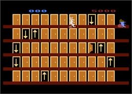 In game image of Looney Tunes Hotel on the Atari 5200.