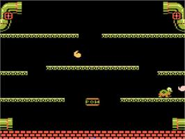 In game image of Mario Bros. on the Atari 5200.